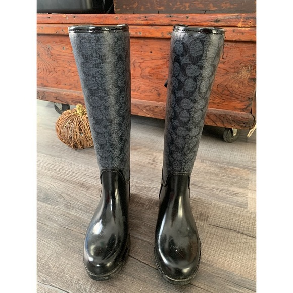 COACH Rain Boots - like new condition